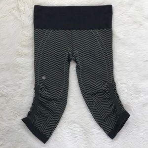 Lululemon elastic yoga workout leggings stripe SZ6